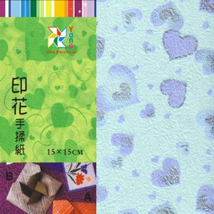 Patterns Shoyu Paper - purple heart, 6 inch (15 cm) square, 15 sheets, (YHZ037)